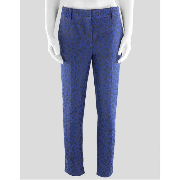 3.1 Phillip Lim blue and black cheetah trouser